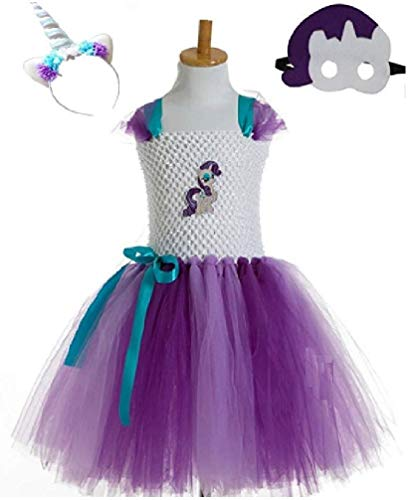 Rari Pony Costume Tutu Dress/Accessories from Chunks of Charm (5, Rarity Tutu Dress) -