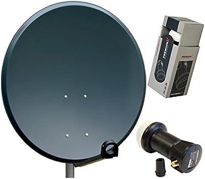 PremiumX - Antena parabólica HD (aluminio y antracita, 60 cm ...