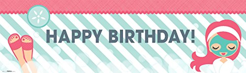 Little Spa Salon Makeover Party Supplies - Vinyl Birthday Banner 18'' x 61'' by BirthdayExpress (Image #1)