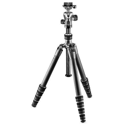 Gitzo GK1555T-82TQD Series 1 Traveler Kit with GT1555T 5 Section Tripod & Head (Black)