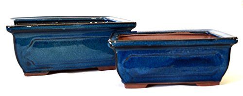 9Greenbox Ceramic Bonsai Pots, 4 Pound (Pack of ()