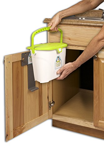 kitchen compost caddy under sink mounted compost system. Black Bedroom Furniture Sets. Home Design Ideas