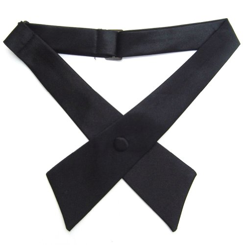 TopTie Criss-Cross Tie, Girls' School Uniform Cross Tie-Black]()