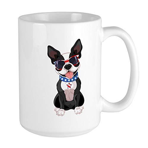 Large Mug Coffee Drink Cup Dog Lover Celebrating Boston Terrier ()