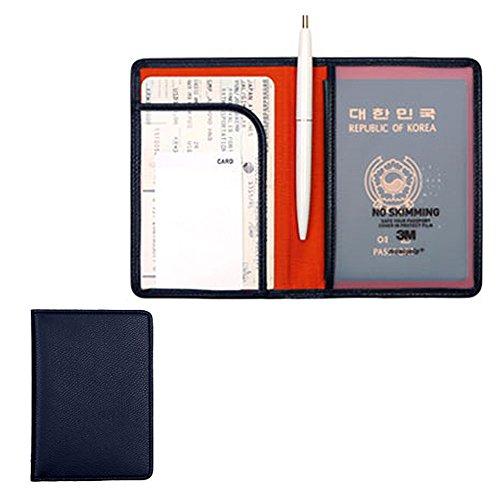 RFID Blocking Passport Cover Compact Case Holder Wallet Indigo