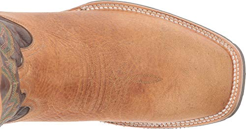 Image of Lucchese Bootmaker Men's Rudy Western Boot, tan/Chocolate Cowhide, 10 D US