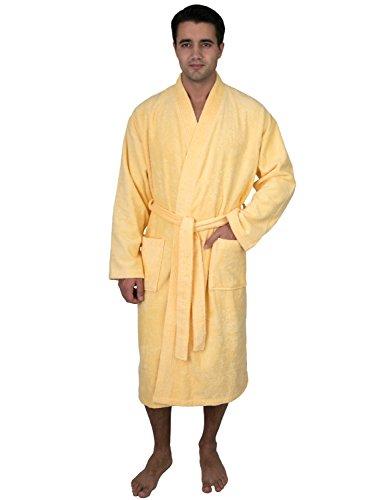 (TowelSelections Men's Robe Low Twist Cotton Terry Kimono Bathrobe X-Small/Small Golden Haze)