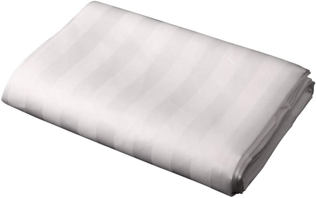 Weighted Hem Machine Washable White Satin Stripe Shower Curtain Polyester Fabric 180 CM WIDE X 180 CM LONG Rustproof Eyelets STANDARD // EXTRA SHORT // EXTRA WIDE // EXTRA LONG VARIOUS SIZES