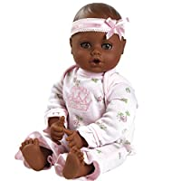 """Adora PlayTime Baby Little Princess Vinyl 13"""" Girl Weighted Washable Cuddly Snuggle Soft Toy Play Doll Gift Set with Open/Close Eyes for Children 1+ Includes Bottle"""