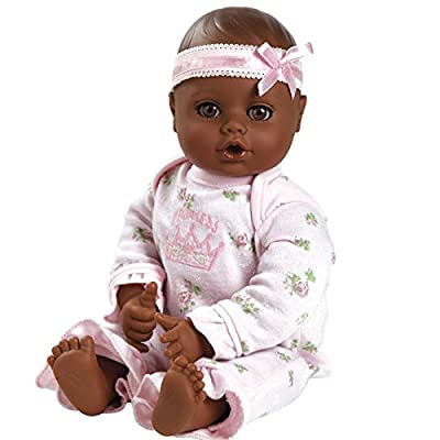 "Adora PlayTime Baby Little Princess Vinyl 13"" Girl Weighted Washable Cuddly Snuggle Soft Toy Play Doll Gift Set with Open/Close Eyes for Children 1+ Includes Bottle: Toys & Games"