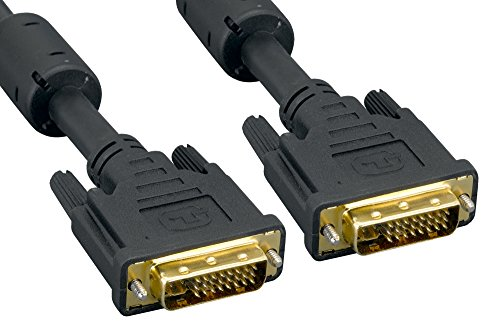 Cablelera DVI-I Dual Link Male/Male Digital & Analog, 5m, Black, Gold Plated - Digital Video 5m Cable Dvi