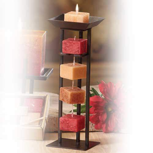 Deco Glow Candles on a Rope Tall Holder
