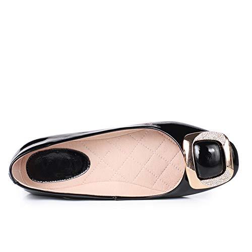 Noir Femme Noir Sandales DGU00692 36 5 AN EU Compensées pqIxt