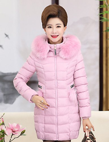 Solid ZHUDJ Women'S Coat Simple Blushing Out XL Plus Vintage Cute Regular Padded Polyester Daily Pink Camouflage Size Polypropylene Casual Cotton Going Cotton OOSwdqr