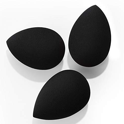 Makeup Sponges, Larbois 3-Pack Blender Beauty Foundation Blending Sponge, Professional Beauty Makeup Set for Dry & Wet Use (Black+Black+Black)