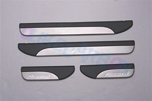 For Honda Accord 2013-2016 9TH Sedan OEM Stainless Steel Door Sill Scuff Plate Guard Sills Protector Trim