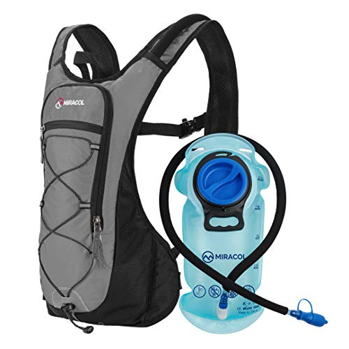 MIRACOL Hydration Backpack with 2L BPA-Free Bladder Lightweight Hydration Pack for Running Hiking Climbing Biking…