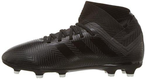 adidas Unisex Nemeziz 18.3 Firm Ground Soccer Shoe, Black/White, 5.5 M US Big Kid by adidas (Image #5)