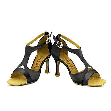Azul Rosa Personalizables Rojo Latino Personalizado Amarillo Negro Pink Tacón Salsa baile Blanco Zapatos de Morado 0PqHxt1Xw