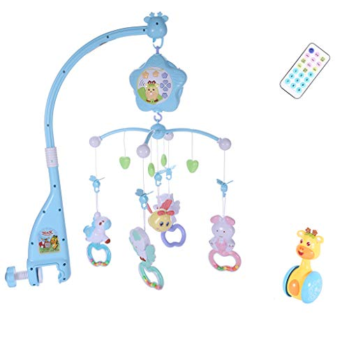 Livoty Baby Mobile for Crib, Crib Toys with Music and Lights, Remote, Stand, Holder, Carrier, lamp, Projector for Pack and Play [Shipping from USA]