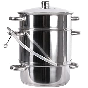 Jago - Olla a vapor de acero inoxidable con extractor de ...