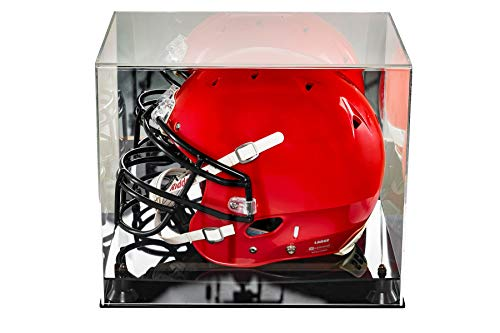 Thorza Football Helmet Display Case - Large Clear Acrylic Display Case Protects Autographs and Memorabilia