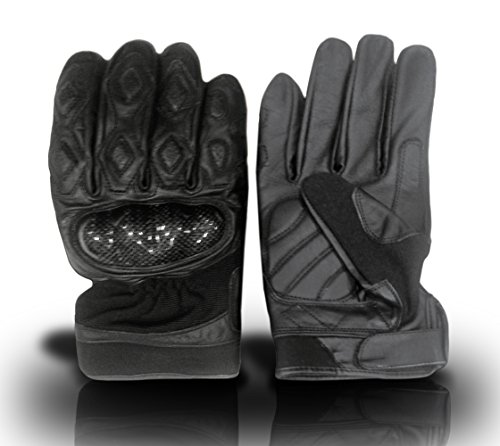 The Nekid Cow Brand Naked Leather Padded PRO Fully Lined & Vented MOTORCYCLE Riding Gloves For Men Guaranteed - Racing Dirt Handle Gloves w/ Hard Knuckle Vented Padded Fingers and Palm & Great Lightweight Protection For Fingers and Knuckles - Double Stitched (Large) (Gloves Leather Naked Motorcycle)