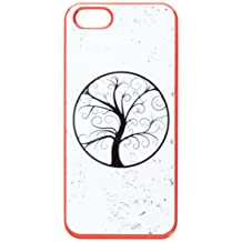 Graphics and More Tree of Life Distressed Snap-On Hard Protective Case for iPhone 5/5s - Non-Retail Packaging - Red