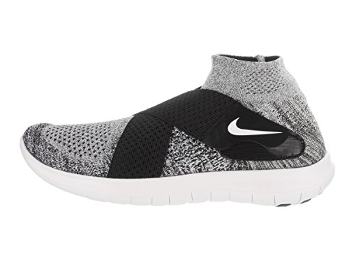 Nike Free RN Motion FK 2017, Scarpe da Trail Running Uomo Multicolore (Black/White/Pure Platinum/Wolf Grey 001)