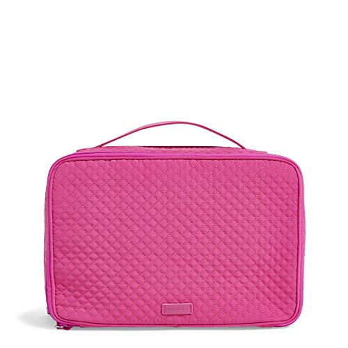 (Vera Bradley Iconic Large Blush & Brush Case, Microfiber, Rose Petal)