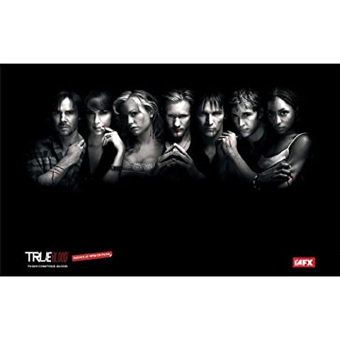 True Blood Poster by Silk Printing # Size about (56cm x 35cm, 22inch x 14inch) # Unique Gift # (True Blood Gifts)