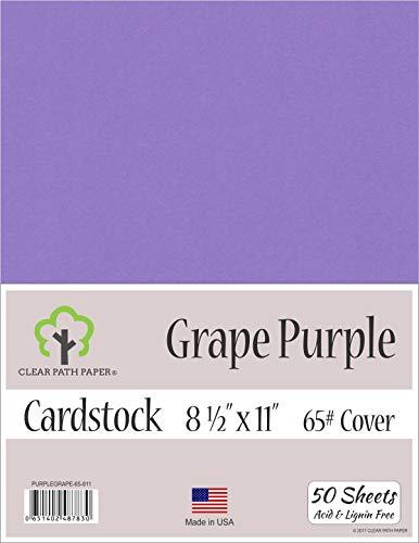 Grape Purple Cardstock - 8.5 x 11 inch - 65Lb Cover - 50 -