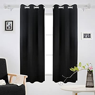 Deconovo Room Darkening Thermal Insulated Blackout Grommet Window Curtain Panel for Living Room 42 inch by Deconovo