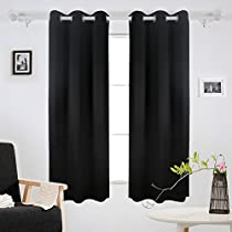 Deconovo Room Darkening Grommet Curtain Thermal Insulated Curtains for Windows