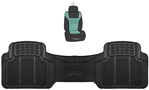 FH Group F11306 Trimmable Vinyl Floor Mats (Black) Rear Set – Universal Fit for Cars Trucks and SUVs