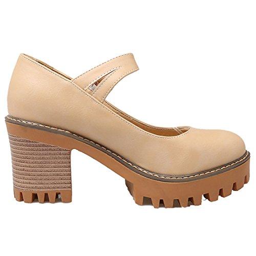 Aiyoumei Scarpe Da Donna Con Cinturino Alla Caviglia E Tallone Con Cinturino Alla Caviglia