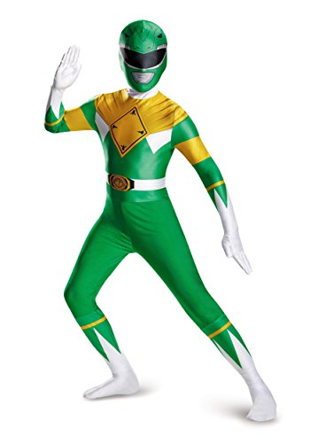 Disguise Men's Green Ranger Bodysuit Costume Teen, Green, X-Large