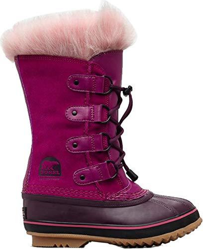 Sorel Youth Joan of Arctic Snow Boot, Raspberry/Purple Dahlia, Size 1 Little Kid US