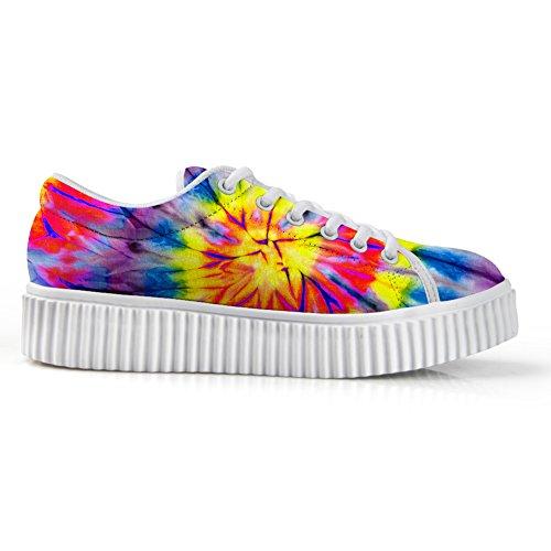 Kramar Idé Mode Blomma Låga Sneakers Kvinnor Plattform Sneakers Färgglada 6