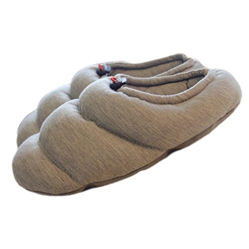 Acogedora en Fortuning Casa Patrón de Wrap algodón Comfy Gris Zapatillas Pareja Half espiral JDS de unisex Calzado xwqxvI