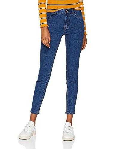 Blue Blu New Donna Jeans Look mid Skinny qYx07wf