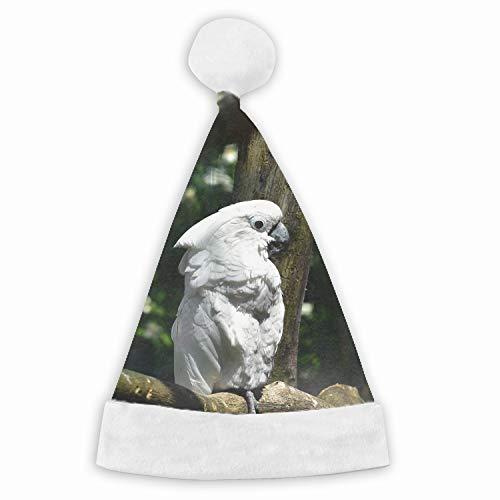 Cockatoo Bird Animal Naughty and Nice Plush Red Holiday Christmas Santa Hats