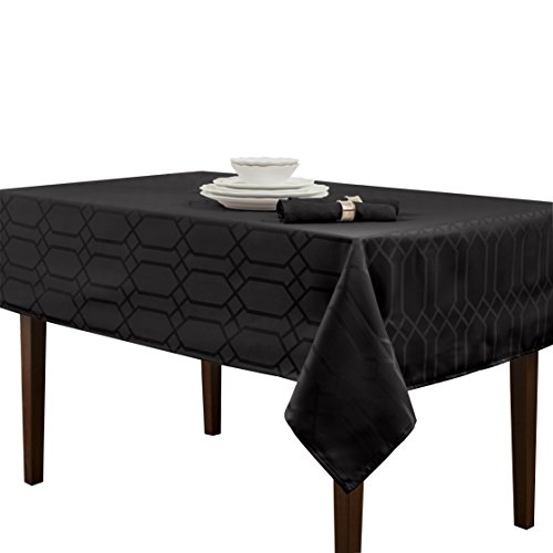 Benson Mills Chagall Spillproof Tablecloth,Black,60 X 120