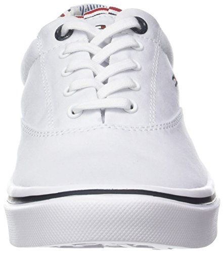 Weight Hilfiger Basses Tommy Blanc Sneakers 100 Femme Sneaker Textile white Light dtFfwfOq