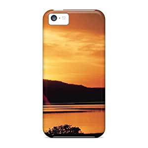 PJPettit Scratch-free Phone Case For Iphone 5c- Retail Packaging - Tranquility In The Wild