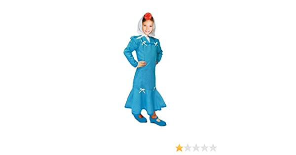 Disfraz Chulapa niña Azul Lunar Blanco (2 años): Amazon.es ...