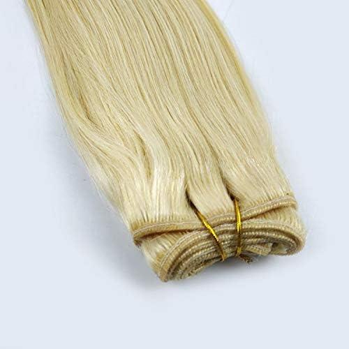 WZZDLes Cheveux Teints Tissent De Vrais Cheveux Humains 16 Pouces