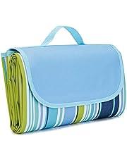 Waterproof Foldable Outdoor Camping Mat Widen Picnic Mat Plaid Beach Blanket Baby Multiplayer Tourist Mat 145x180cm, blue, LNKO9244_1