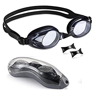 Well-Being-Matters 41RYCKIhWgL._SS300_ Aegend Swim Goggles 3 Sizes Nose Pieces Clear Vision Anti-Fog Men Women Adult