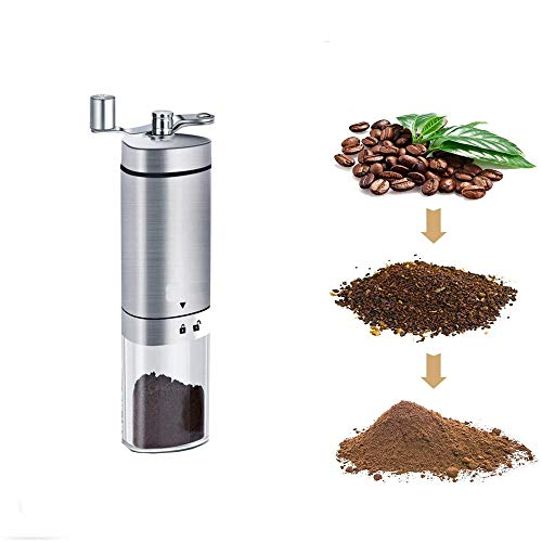 Pengxian Portable Triangle Manual Coffee Grinder with Adjustable Setting Hand-Cranked Stainless Steel 304 Coffee Grinder